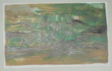 Litografía Zao - Composition En Vert