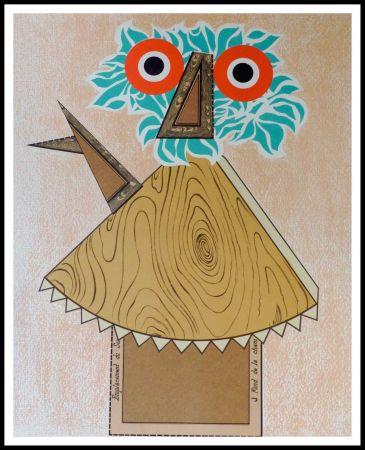 Litografía Baj - Composition Figurative