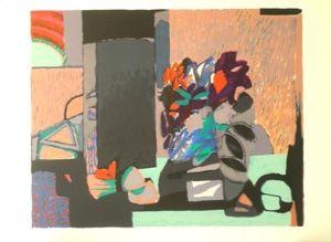 Litografía Godard - Composition florale