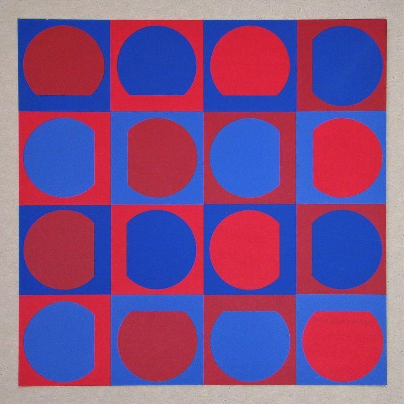 Serigrafía Vasarely - Composition Folklore Planétaire