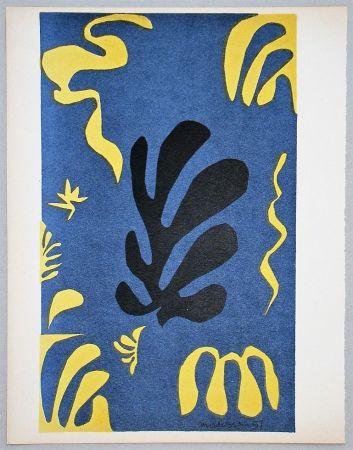 Litografía Matisse - Composition Fond Bleu, 1951