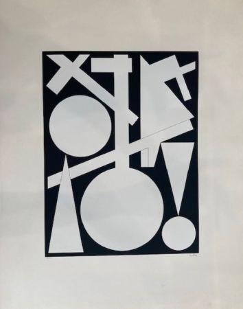 Serigrafía Herbin - Composition géométrique
