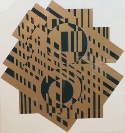 Litografía Vasarely - Composition géométrique