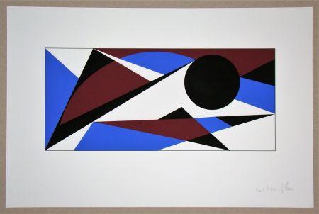 Serigrafía Claisse - Composition géométrique - sans titre