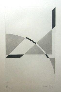 Grabado Honegger - Composition géométrique 1
