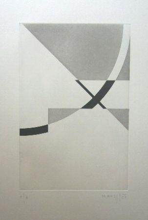 Grabado Honegger - Composition géométrique 2