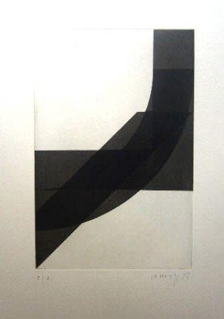 Grabado Honegger - Composition géométrique 4