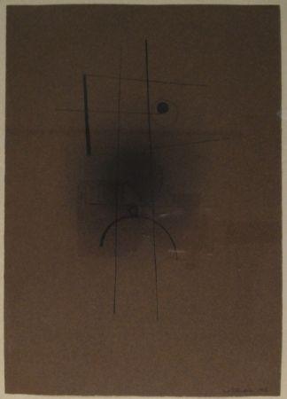 Monotipo Tutundjian - Composition géometrique abtraite / Geometrisch abstrakte Komposition