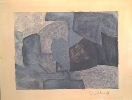 Litografía Poliakoff - Composition grise n°59