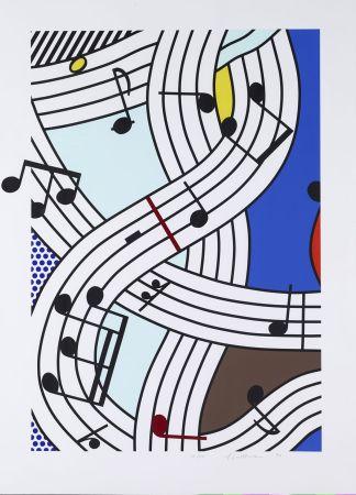 Serigrafía Lichtenstein - Composition I