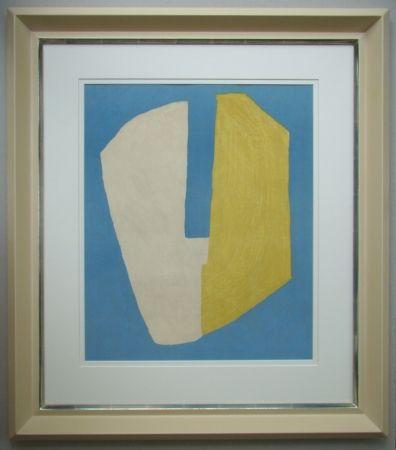 Litografía Poliakoff - Composition jaune et bleue