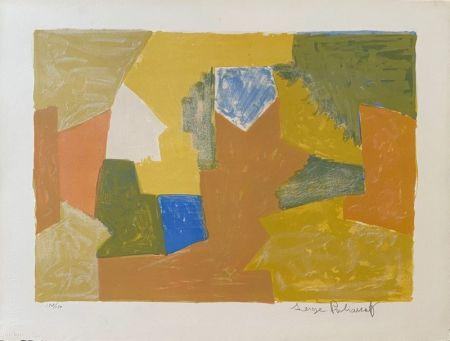 Litografía Poliakoff - Composition jaune, Orange et Verte L14