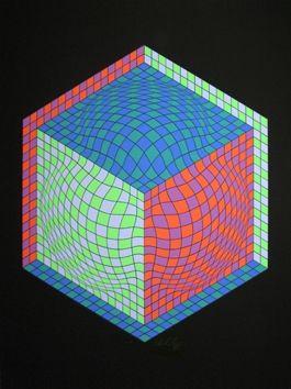 Serigrafía Vasarely - Composition M