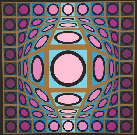 Serigrafía Vasarely - Composition Microcosmos IV