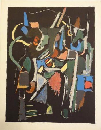 Litografía Lanskoy - Composition noire 1