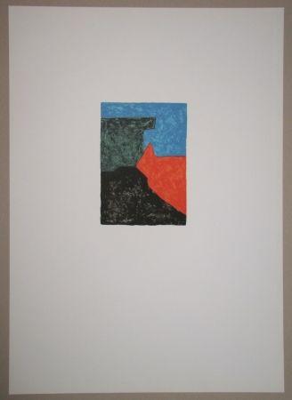 Litografía Poliakoff - Composition noire, rouge, bleue et verte
