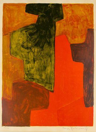 Sin Técnico Poliakoff - Composition orange et verte
