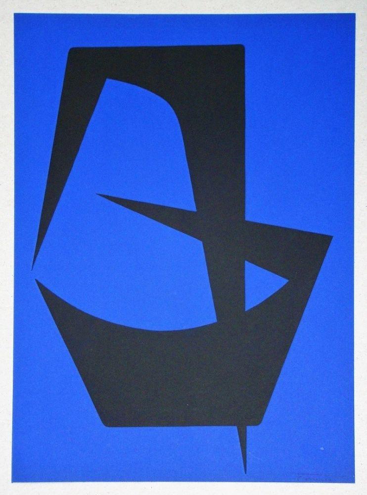 Litografía Forani - Composition pour Art Abstrait