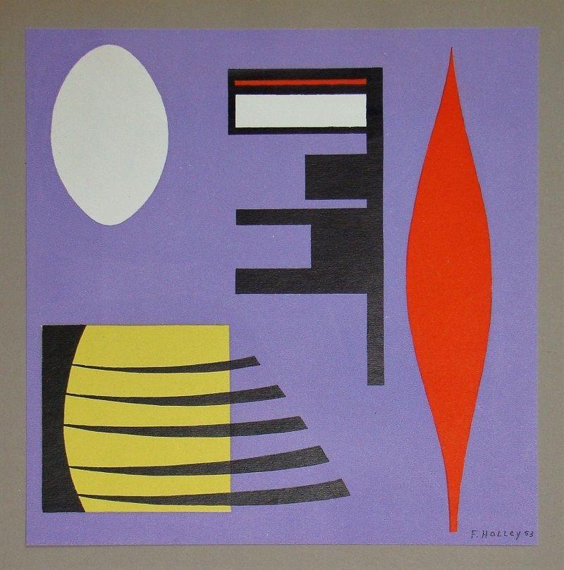 Litografía Holley - Composition pour Art Abstrait