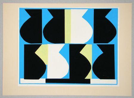 Serigrafía Delahaut - Composition pour Art Abstrait