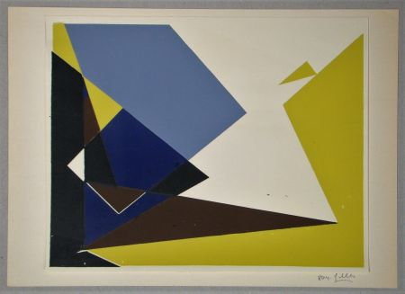 Serigrafía Gilles  - Composition pour Art Abstrait