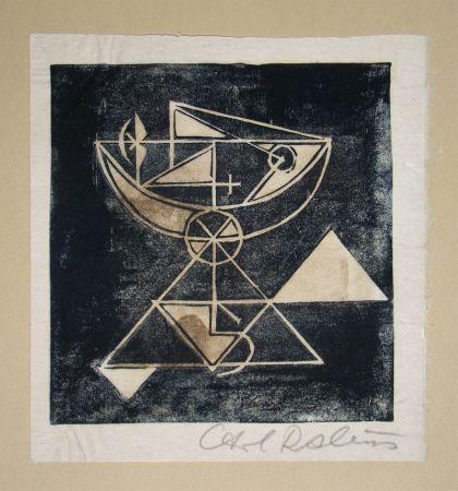 Grabado En Madera Rabus - Composition pour Art Abstrait