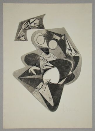 Aguafuerte Mels - Composition pour Art Abstrait