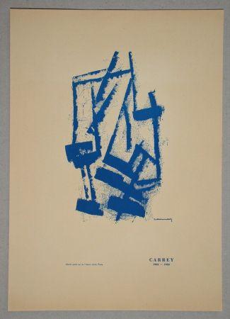 Litografía Carrey - Composition pour Galerie Ariel