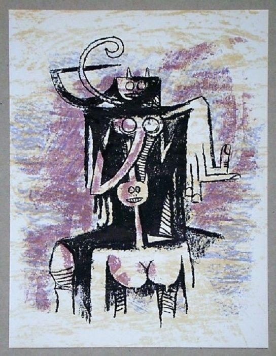 Litografía Lam - Composition pour XXe Siècle