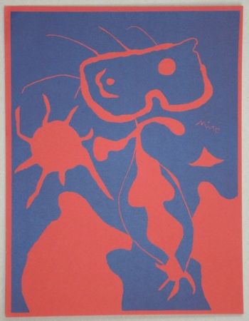 Linograbado Miró - Composition pour XXe Siècle