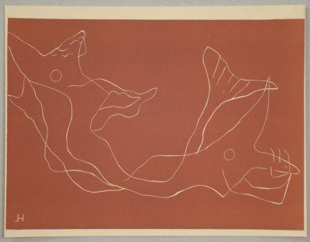Linograbado Laurens - Composition pour XXe Siècle