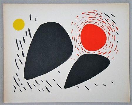 Litografía Calder - Composition Pour Xxe Siècle