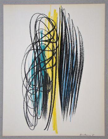 Litografía Hartung - Composition pour XXe Siècle