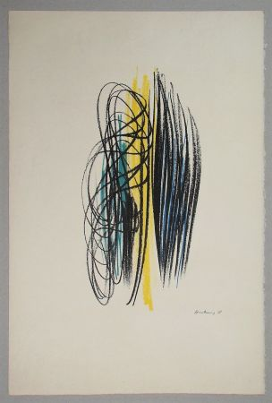 Litografía Hartung - Composition pour XXe Siècle - 1958