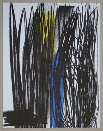 Litografía Hartung - Composition pour XXe Siècle, 1973