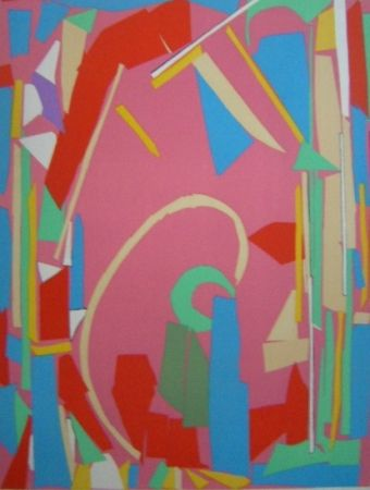 Litografía Lanskoy - Composition rose