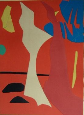 Litografía Lanskoy - Composition rouge