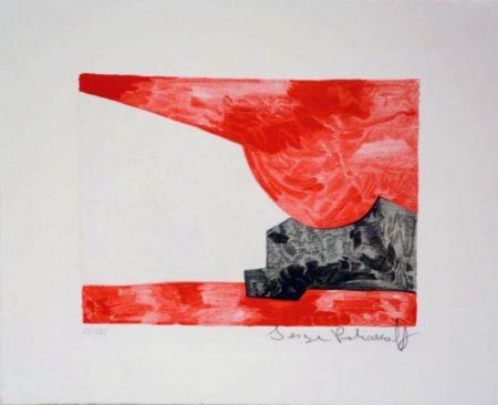 Litografía Poliakoff - Composition rouge, blanche, noire n°42