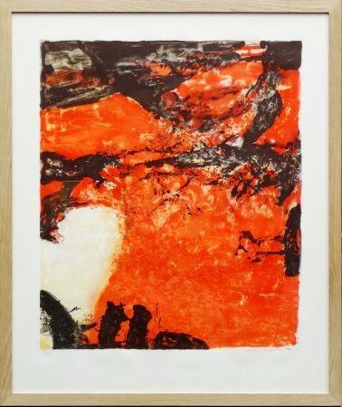 Litografía Zao - Composition Rouge Et Noir