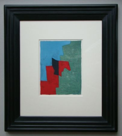 Litografía Poliakoff - Composition rouge, verte et bleue
