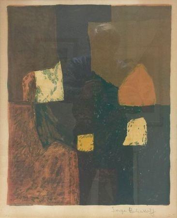 Litografía Poliakoff - Composition rouge, verte et jaune n°7