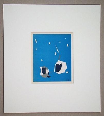 Litografía De Stael - Composition sur fond bleu ciel