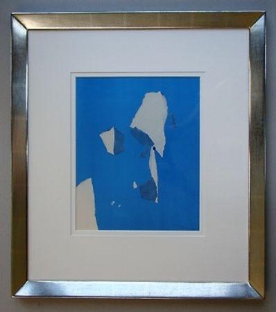 Pochoir De Stael - Composition sur fond bleu ciel