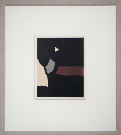 Litografía De Stael - Composition sur fond noir