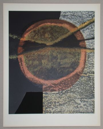 Serigrafía Piaubert - Composition V.-1964