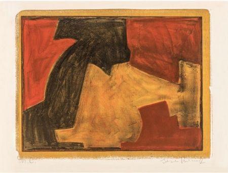 Litografía Poliakoff - Composition verte, bleue et rouge n°48