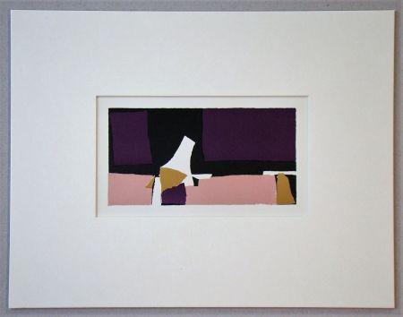 Litografía De Stael - Composition Violette - 1952