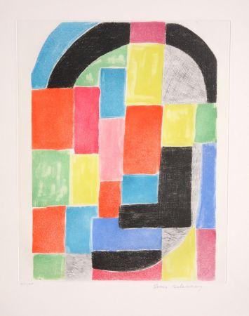 Grabado Delaunay - Composition with Arc