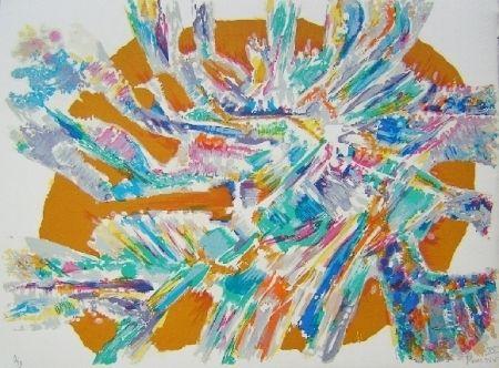 Litografía Manessier - Composition XV