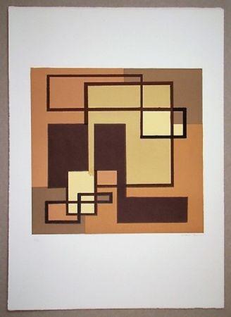 Litografía Radice - Compositione astratta marrone